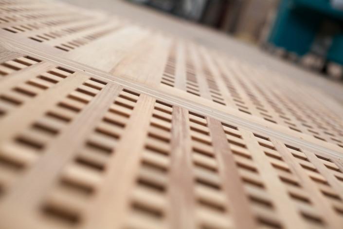 Blokroosters voor schepen van hout